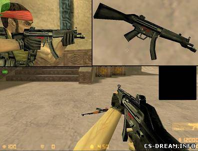 MP5 - hack default model mp5a3